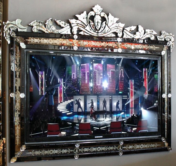 Venetian Mirror TV Frame | Melrose Gallery