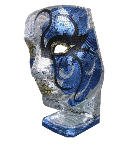 chair blue – mosaic face